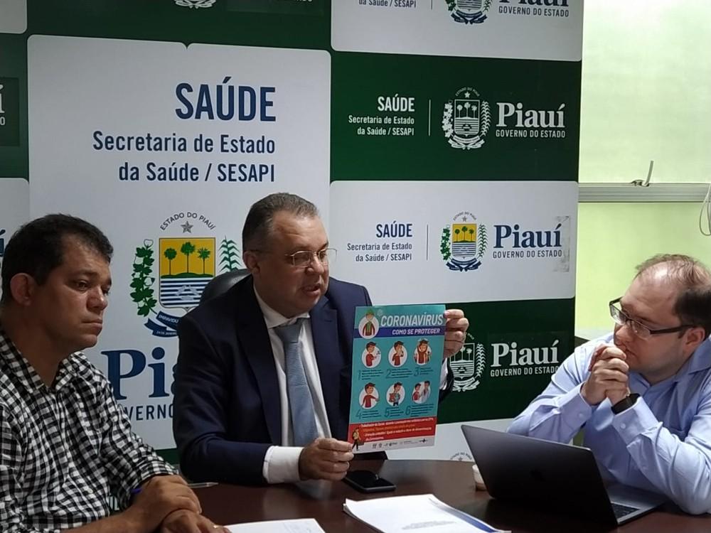 Reunião na Sesapi define ações de prevenção e combate ao coronavírus. — Foto: Sanny Mendes/TV Clube