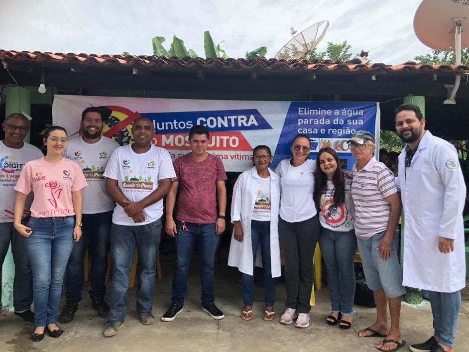 Saúde de Angical do Piauí realiza mutirão contra o mosquito transmissor da Dengue, Zika e Chikungunya
