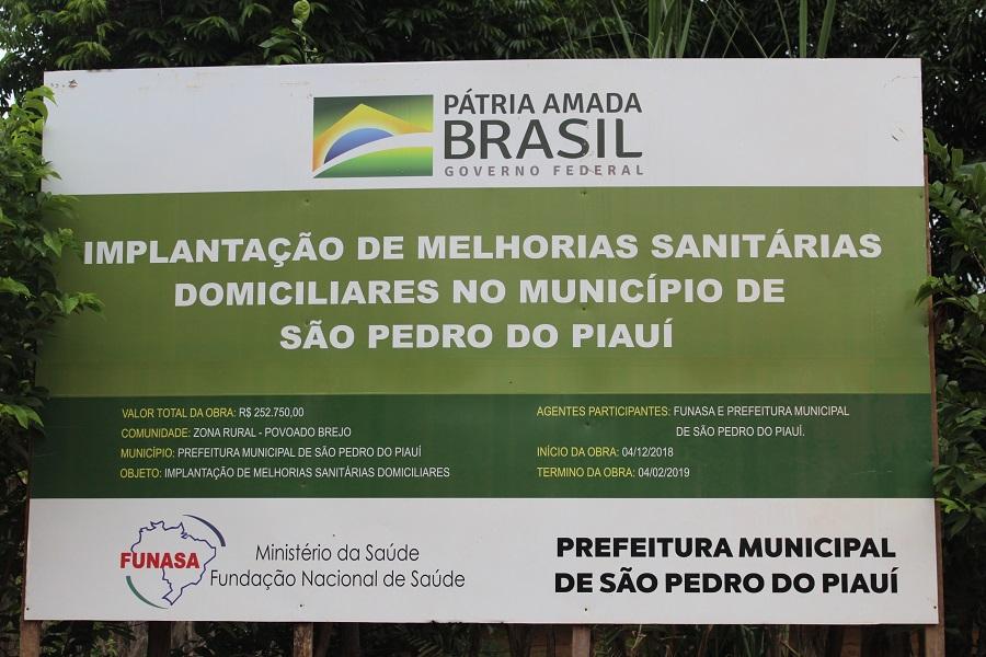 Prefeitura de São Pedro do Piauí constrói 23 banheiros na zona rural do município