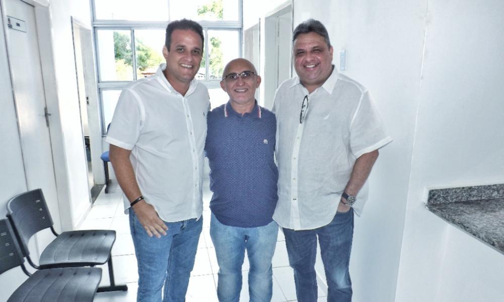 Prefeito Diego Teixeira, Pastor Josineide Amorim e Deputado Júlio Arcoverde