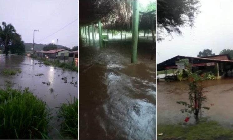 Vídeo | Temporal atinge Angical do Piauí deixa ruas e bairros alagados e assusta moradores