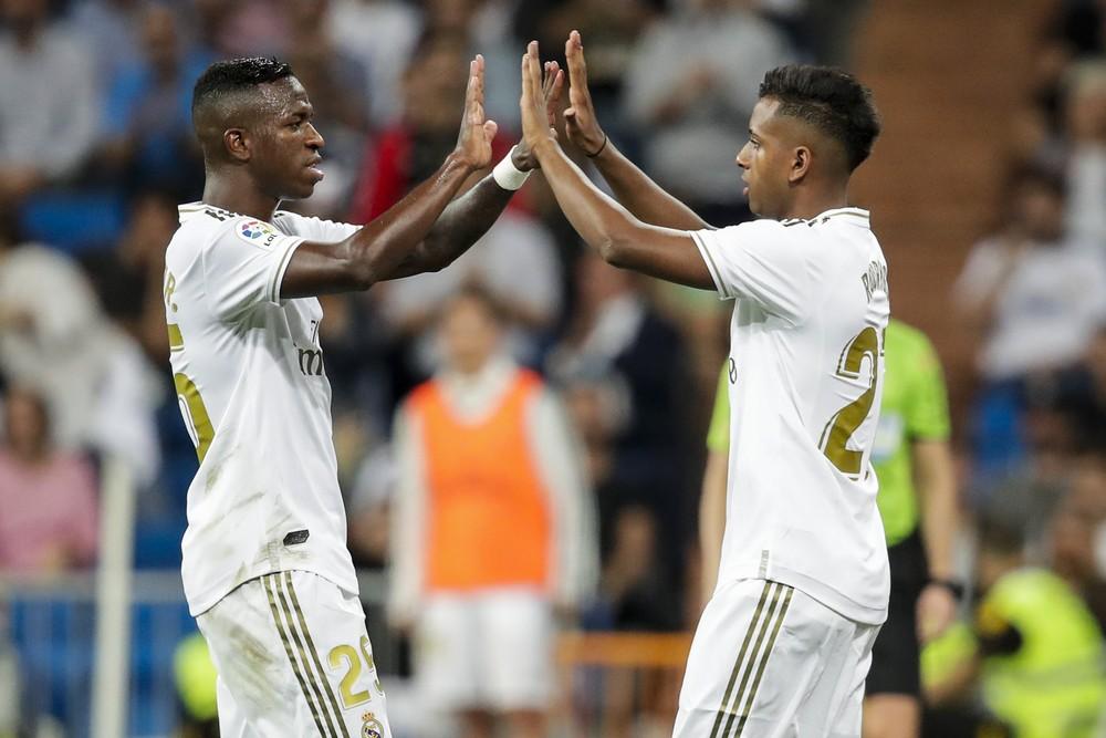 Vinicius Junior Rodrygo Real Madrid — Foto: Getty Images