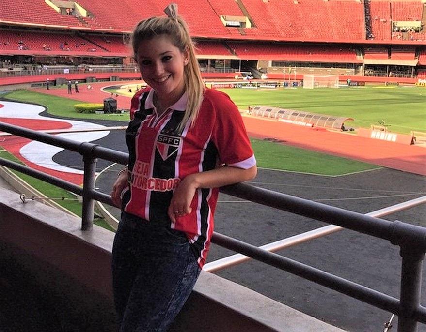 Melody Pasini era namorada de Centurión na época de São Paulo — Foto: Reprodução/Instagram