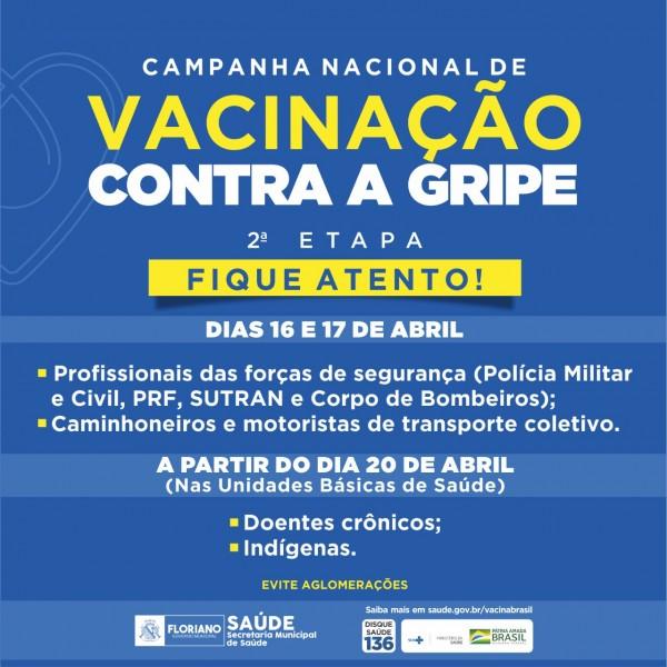 Vacina da gripe chega aos posto de saúde de Floriano na segunda-feira, 20
