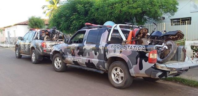 Força Tática de Valença estoura desmanche de motos em Novo Oriente
