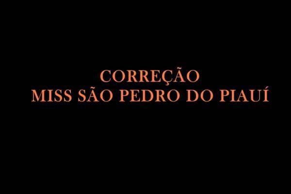 RETRATAÇÃO: A primeira Miss São Pedro do Piauí