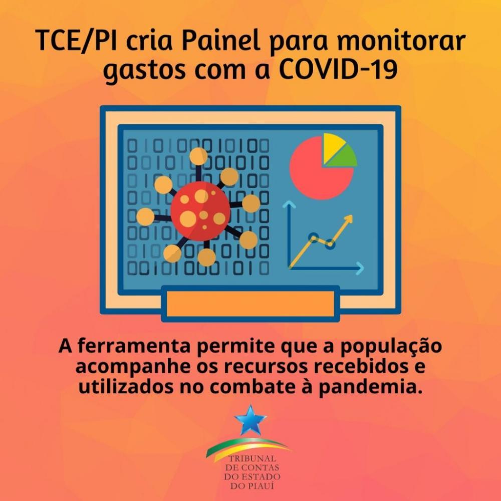 TCE/PI cria ferramenta para população acompanhar gastos no combate ao coronavírus; veja