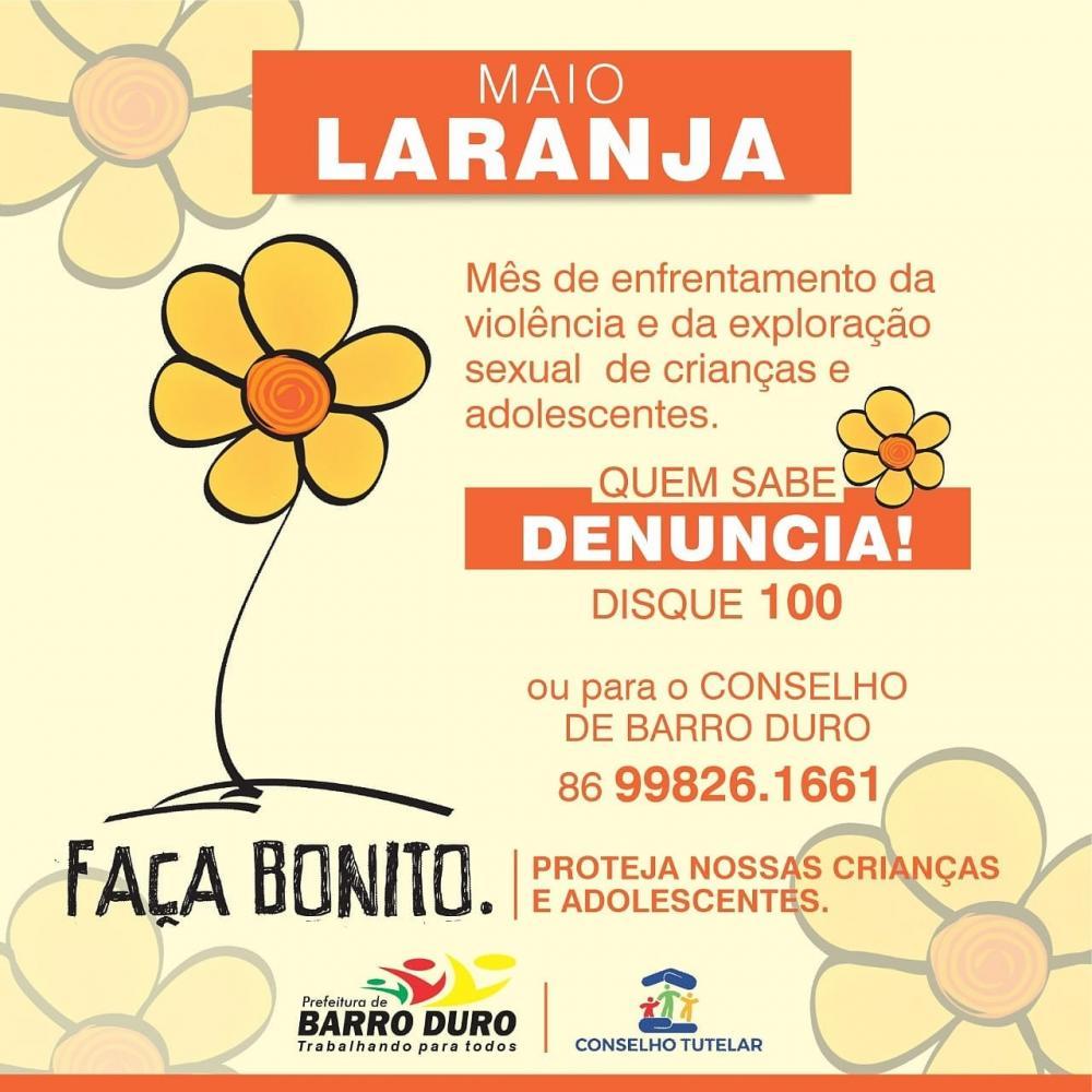 Barro Duro | Maio Laranja, mês de combate ao abuso sexual de crianças e adolescentes