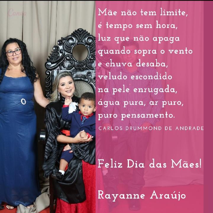 Rayanne Araújo homenageia a todas as Mães