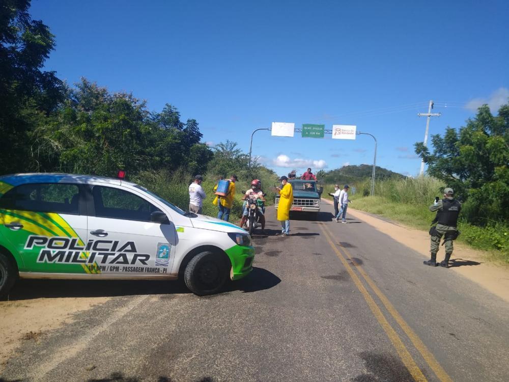 Barro Duro realiza barreiras sanitárias na entrada da cidade