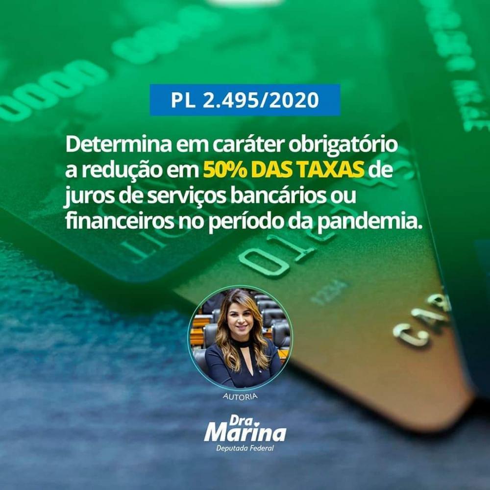 Dra Marina propõe projeto que diminui em 50% valor de taxas de serviços bancários e financeiros