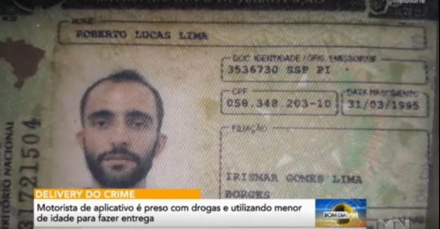 Homem é preso com usando criança para entregar drogas em Teresina