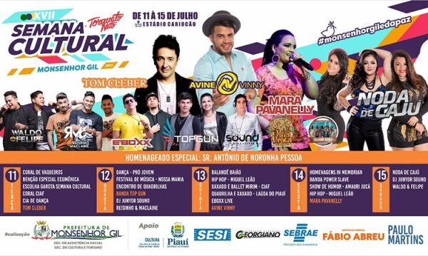 Semana Cultural em Monsenhor Gil (Imagem: Divulgação)