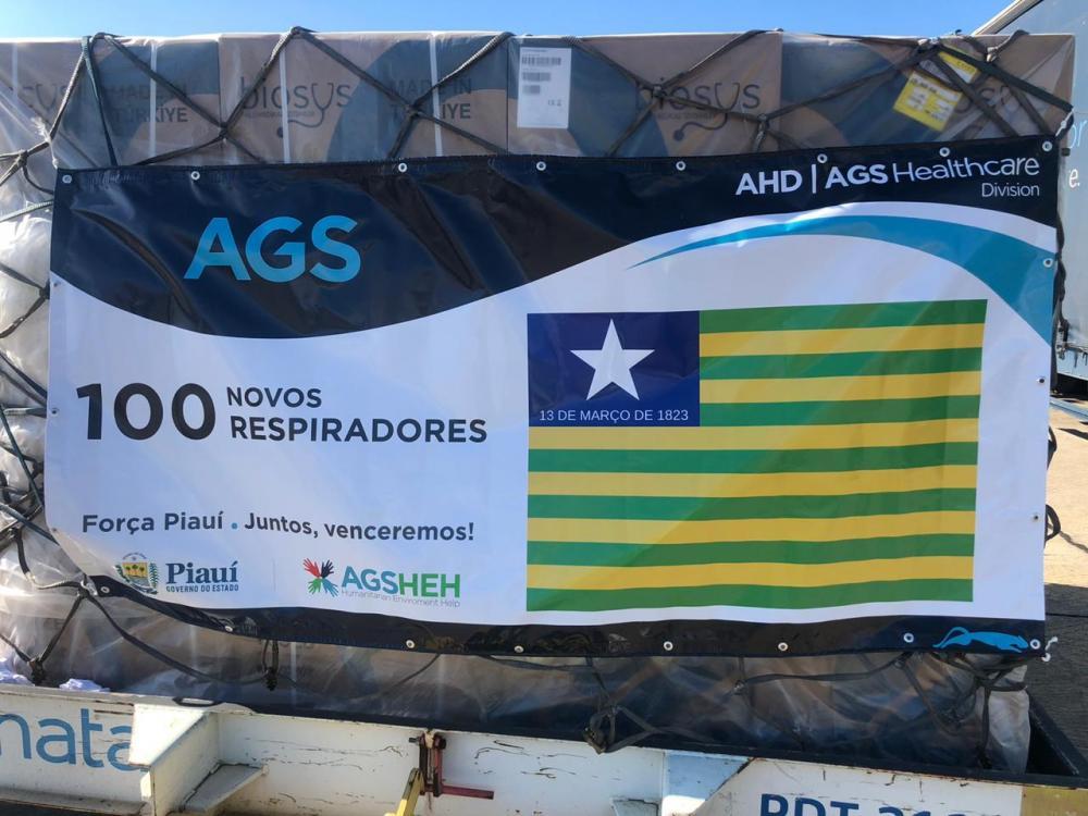 Piauí receberá nos próximos dias 100 respiradores comprados na Turquia, diz Sesapi