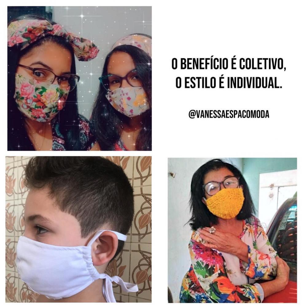 Consultora de estilo Vanessa Vasconcelos cria máscaras cheias de estilo e cores