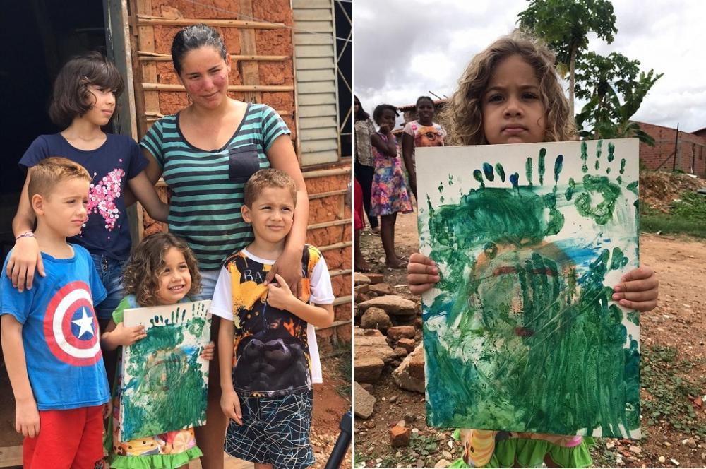 Menino que vendeu 'obra de arte' da irmã para ajudar a família ganha casa nova em Teresina