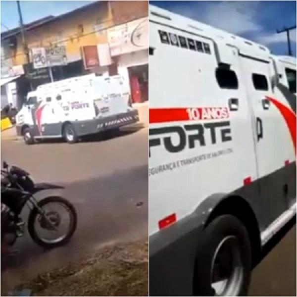 Criminosos armados tentam assaltar carro forte e troca tiros com vigilantes em Teresina
