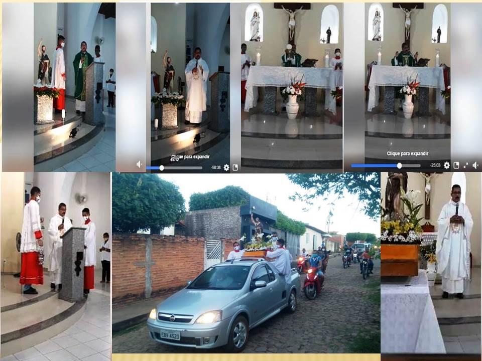 Procissão do Padroeiro encerra o Tríduo de São João Batista em Barro Duro