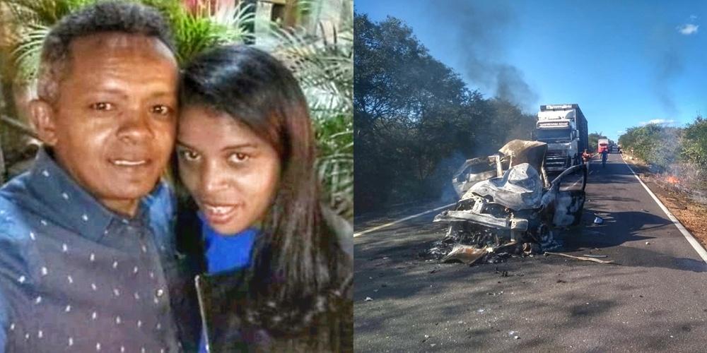 Identificado casal que morreu carbonizado em acidente na BR 135, no Piauí