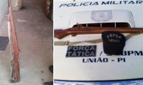 Arma usada para realizar ameaças. (Imagem: Divulgação PM)