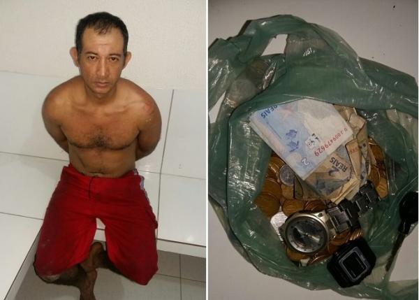 Criminoso é preso no telhado de lanchonete após praticar furto no centro de Água Branca