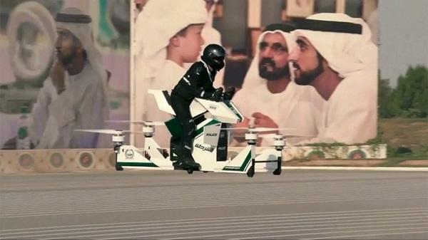 Dubai poderá contar com moto voadora em sua polícia local