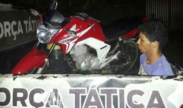 Força Tática prende mecânico que havia furtado moto em Amarante e desmontado em Regeneração