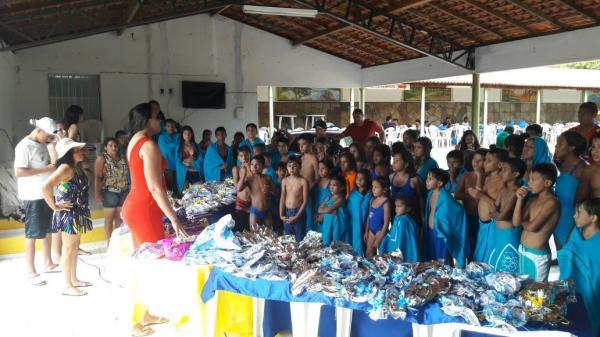 Programa AABB Comunidade de Água Branca promove dia de lazer para seus alunos em São Pedro do Piauí
