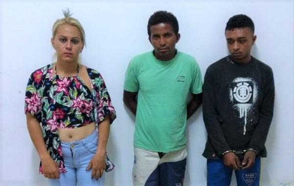 Dois homens e uma mulher são presos acusados de tráfico de drogas na zona rural de Amarante