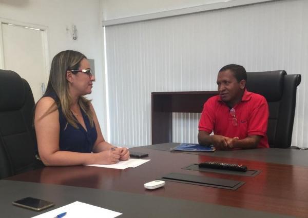 Deputada Federal Rejane Dias recebe o vereador Ciríaco Araújo e garante obras importantes para Regeneração