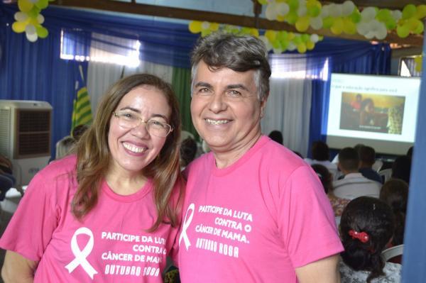 Professora Norma Suely e Prefeito João Luiz