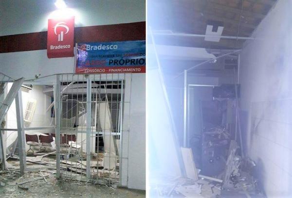 Criminosos explodem agência do Bradesco de Monsenhor Gil durante a madrugada