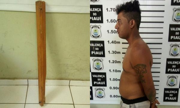 Marido tenta matar companheira a pauladas em Novo Oriente e é preso