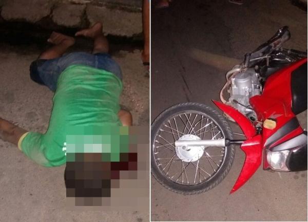 Acidente entre duas motocicletas deixa mecânico morto no centro de Água Branca