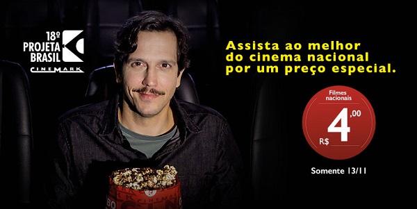 Cinemark vai exibir cerca de 32 mil filmes nacionais com preço a R$ 4