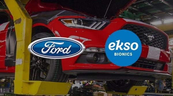 Imagem capa da parceria entre Ford e Ekso Bionics (Imagem: Divulgação)