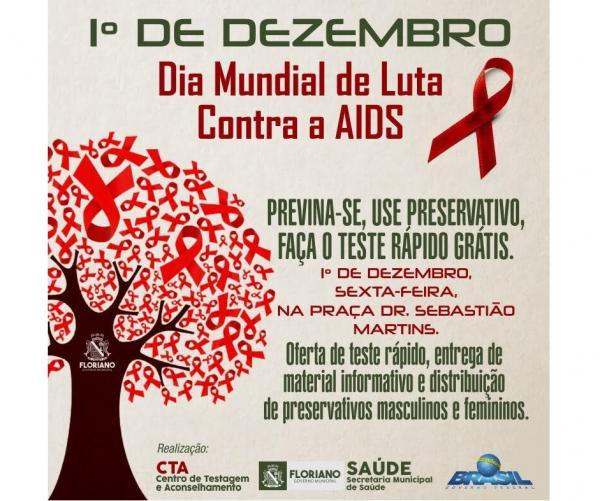 Em Floriano, saúde realizará ações no Dia Mundial de Luta Contra a Aids