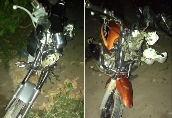 Acidente entre motocicletas deixas duas pessoas feridas em Agricolândia