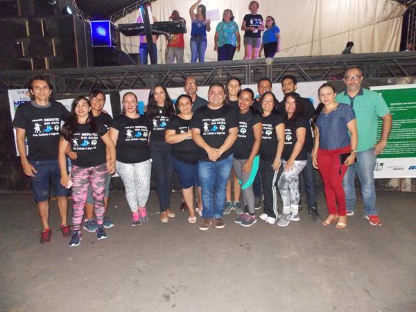 O evento foi realizado em praça pública (Imagem: Valdomiro Gomes/CANAL 121)