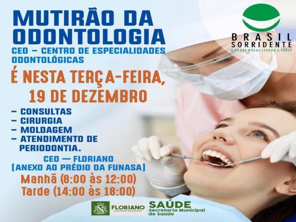 Em Floriano, secretaria de Saúde realiza Mutirão de Odontologia nesta terça-feira (19)