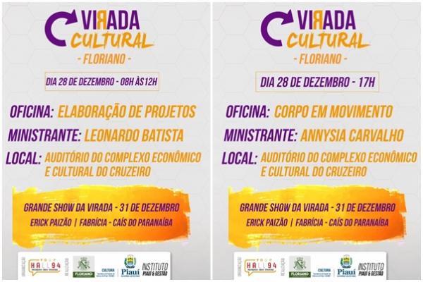 Projeto Virada Cultural terá início com oficinas nesta quinta-feira (28)
