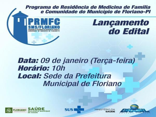 Segue o edital referente ao Programa de Residência de Medicina de Família e Comunidade