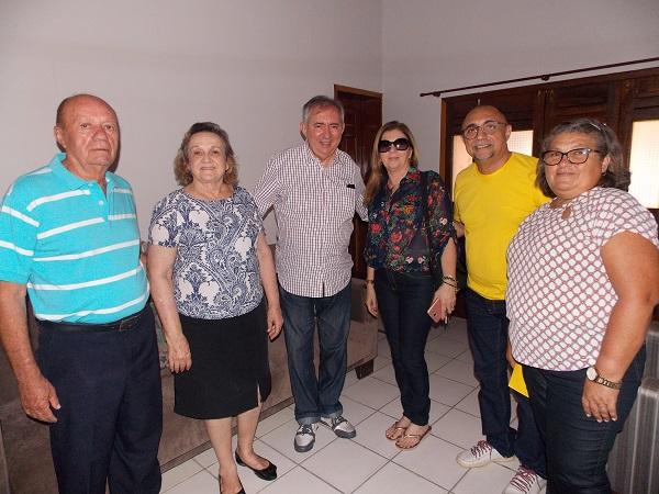Prefeita Neta Santos recepciona ex-ministro João Henrique em Angical do Piauí