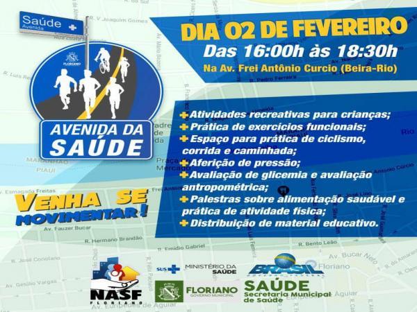 Município promove 'Avenida da Saúde' para incentivo a uma vida mais saudável dia 02 (sexta-feira)