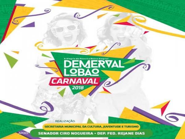 Prefeitura de Demerval Lobão anuncia programação do carnaval 2018