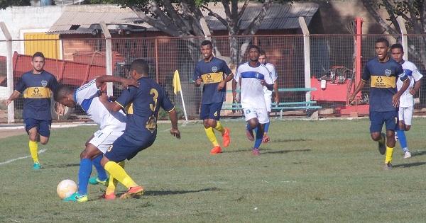 Lance do jogo entre Boca Junior e Real São Francisco (Imagem: CANAL 121)