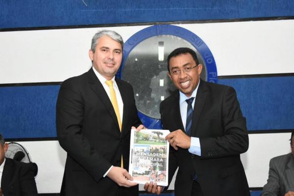 Mensagem do prefeito Joel marca abertura dos trabalhos do legislativo municipal em Floriano