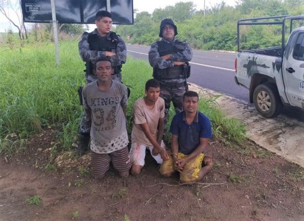 Três dos seis detentos que fugiram da delegacia de AB são recapturados pela Força Tática