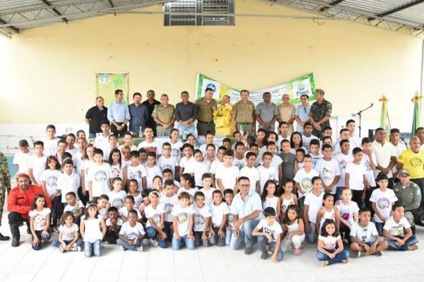 "Aula inaugural dá início às atividades do projeto socioeducativo ""Combatentes Mirins"""