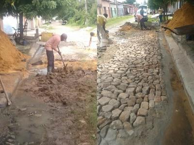 Prefeitura de Floriano realiza obras de recuperação de calçamento em diversos pontos da cidade